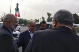 استاندار کرمانشاه به همراه معاون امنیتی وزیر کشور وارد نقطه صفر مرزی شد