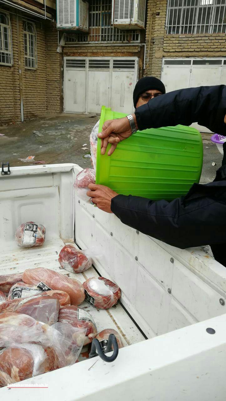 شناسایی و پلمپ یک واحد بستهبندی غیرمجاز گوشت در کرمانشاه