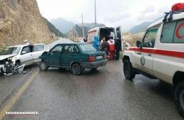 تصادف سمند و پراید در محور اسلام آبادغرب ۷ مصدوم بر جای گذاشت