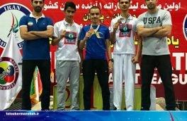 کاراته کاهای کرمانشاهی پنج مدال کشوری کسب کردند