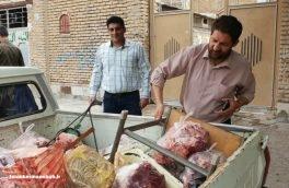 کشف و ضبط نیم تن گوشت غیرمجاز دام درخیابان اربابی کرمانشاه