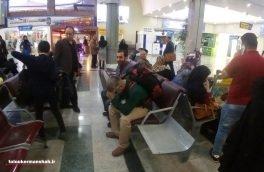 انتقال مسافران سرگردان کرمانشاهی از فرودگاه اصفهان با اتوبوس