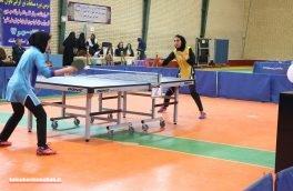 حضور ۱۲ ورزشکار از کرمانشاه در مسابقات تور ایرانی تنیس روی میز بانوان بزرگسال کشور