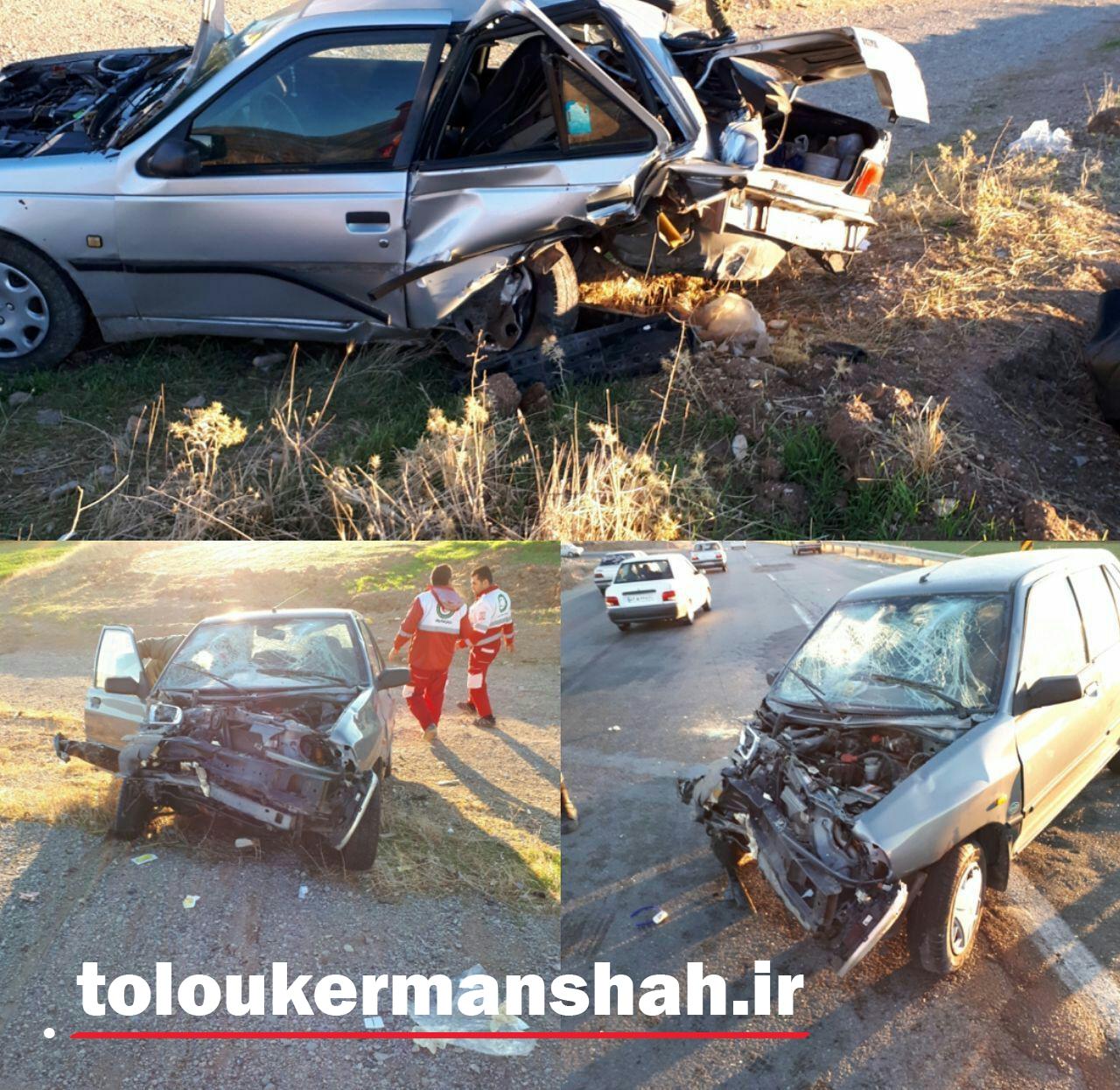 دو کشته و مجروح بر اثر سانحه رانندگی در کرمانشاه