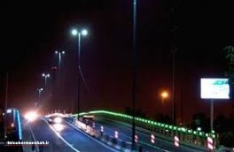 وجود ۱۳۶ کیلومتر روشنایی معابر در سطح جاد ه های استان کرمانشاه