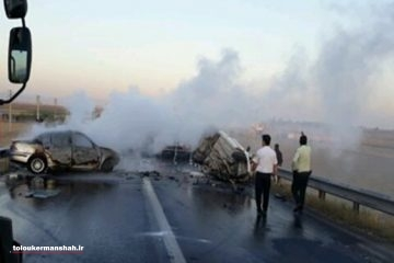 ۳ کشته و ۴ مصدوم در برخورد تریلی با دو سواری حامل زائرین حسینی