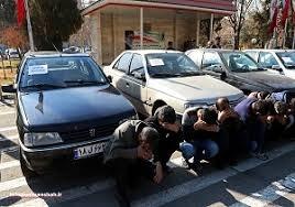 دستگیری ۵ سارق خودرو  در هرسین