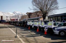 برگزاری رزمایش طرح زمستانه پلیسراه در کرمانشاه