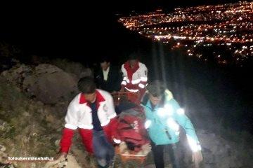 سقوط جوان ۲۸ ساله از ارتفاعات طاقبستان