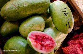 """""""هندوانه"""" شب یلدا در بازار کرمانشاه"""