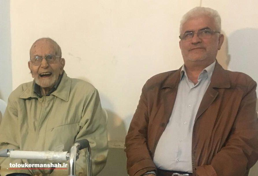 دیدار رئیس شورای شهر کرمانشاه با معلم  قدیمی خود