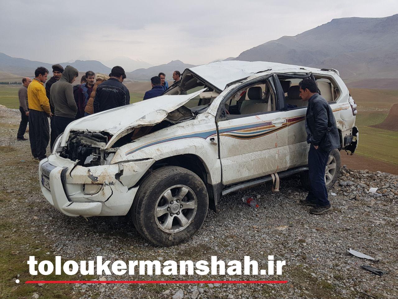 ۸ کشته و زخمی برا اثر واژگونی خودرو پرادو در محور کنگاور به صحنه