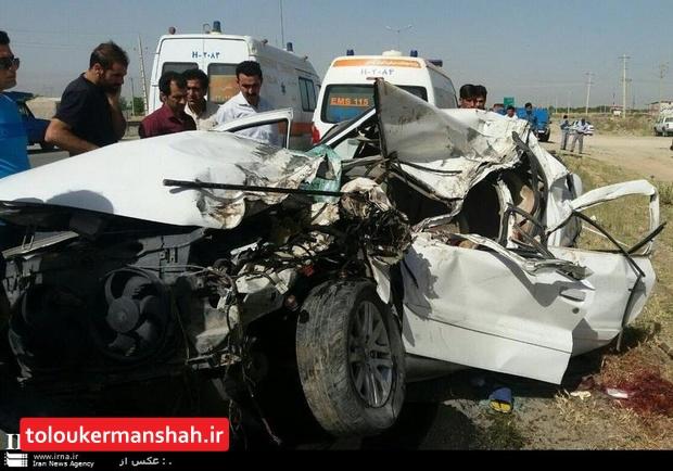 امسال کشته های حوادث جاده ای کرمانشاه ۲.۵ درصد کاهش یافت
