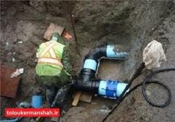 قطعی آب بیش از ۴۰۰ خانوارکرمانشاهی رفع شد