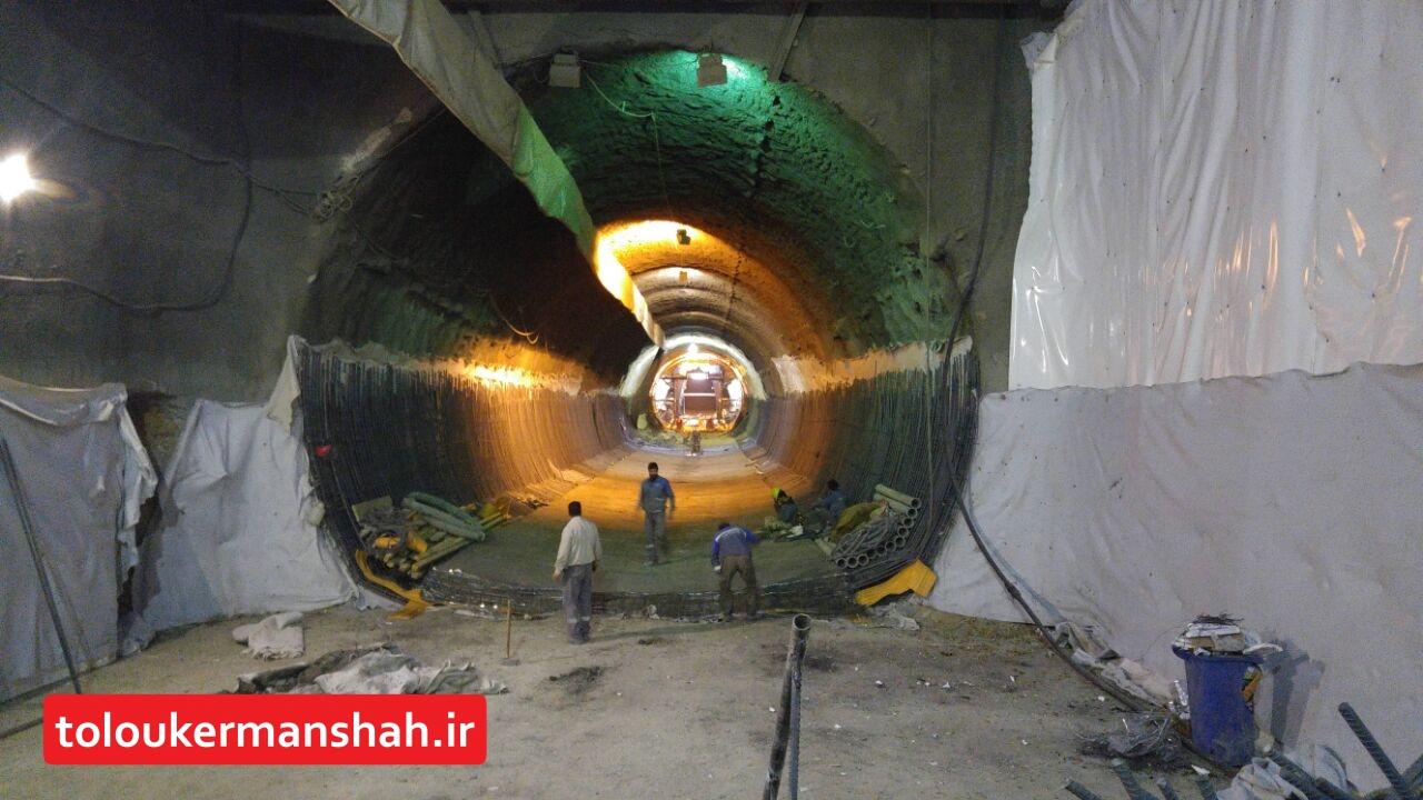 """حفر تونل """"قطار شهری"""" تا پایان سال به اتمام میرسد/ شروع روسازی و نصب ریل از سال آینده"""