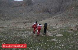 جوان ۱۸ ساله از یخ زدگی در سرمای شدید کوهستان نجات یافت
