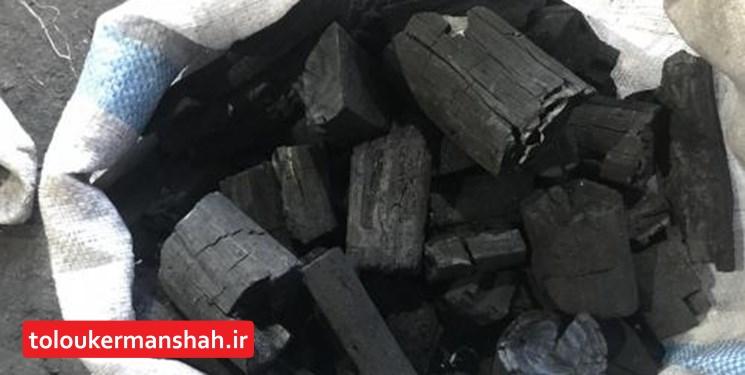 بیش از ۲ تن زغال قاچاق در کرمانشاه کشف شد