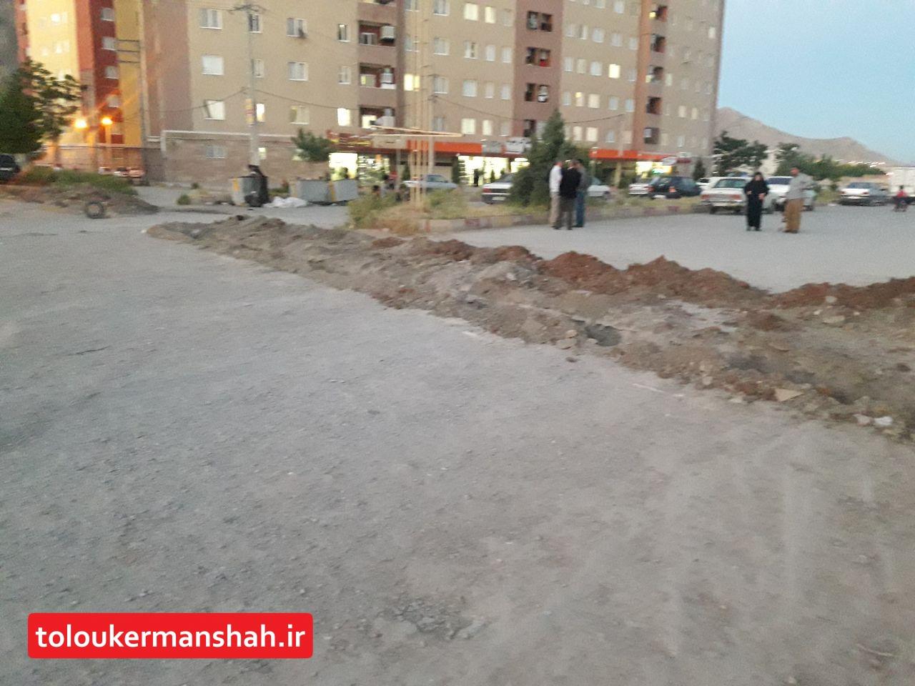 حفر زمین ساکنان شهرک رضویه را محصور کرد