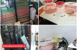 پلمب یک کارگاه غیرمجاز تولید و بسته بندی میوه خشک در کرمانشاه