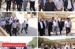 بازدید هیات عالی بهداشت ایران از پایانه مرزی خسروی/مرکز خدمات جامع سلامت راه کربلا  به بهره برداری رسید