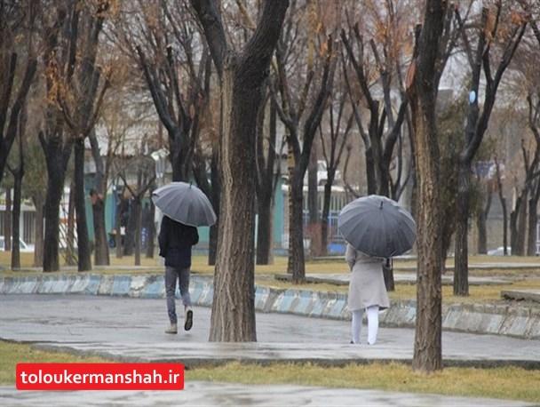 باران و برف در راه کرمانشاه