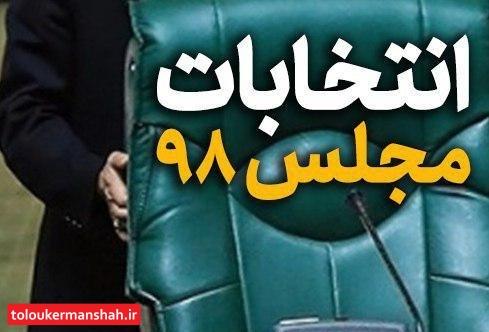 ۱۵۸ کاندیدا در استان کرمانشاه تایید صلاحیت شدند/ شروع تبلیغات کاندیداها از ساعت ۲۴ امشب (۲۳ بهمن)