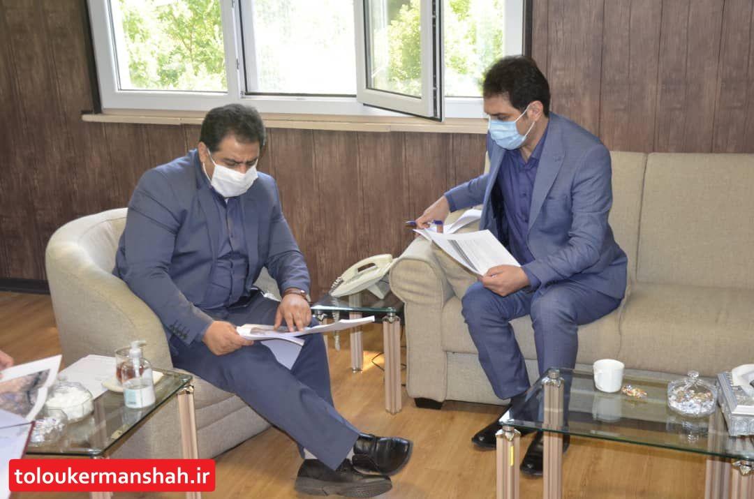 نشست اضطراری نماینده مردم و مدیرعامل آب منطقه ای کرمانشاه در خصوص تامین آب شهرهای اورامانات