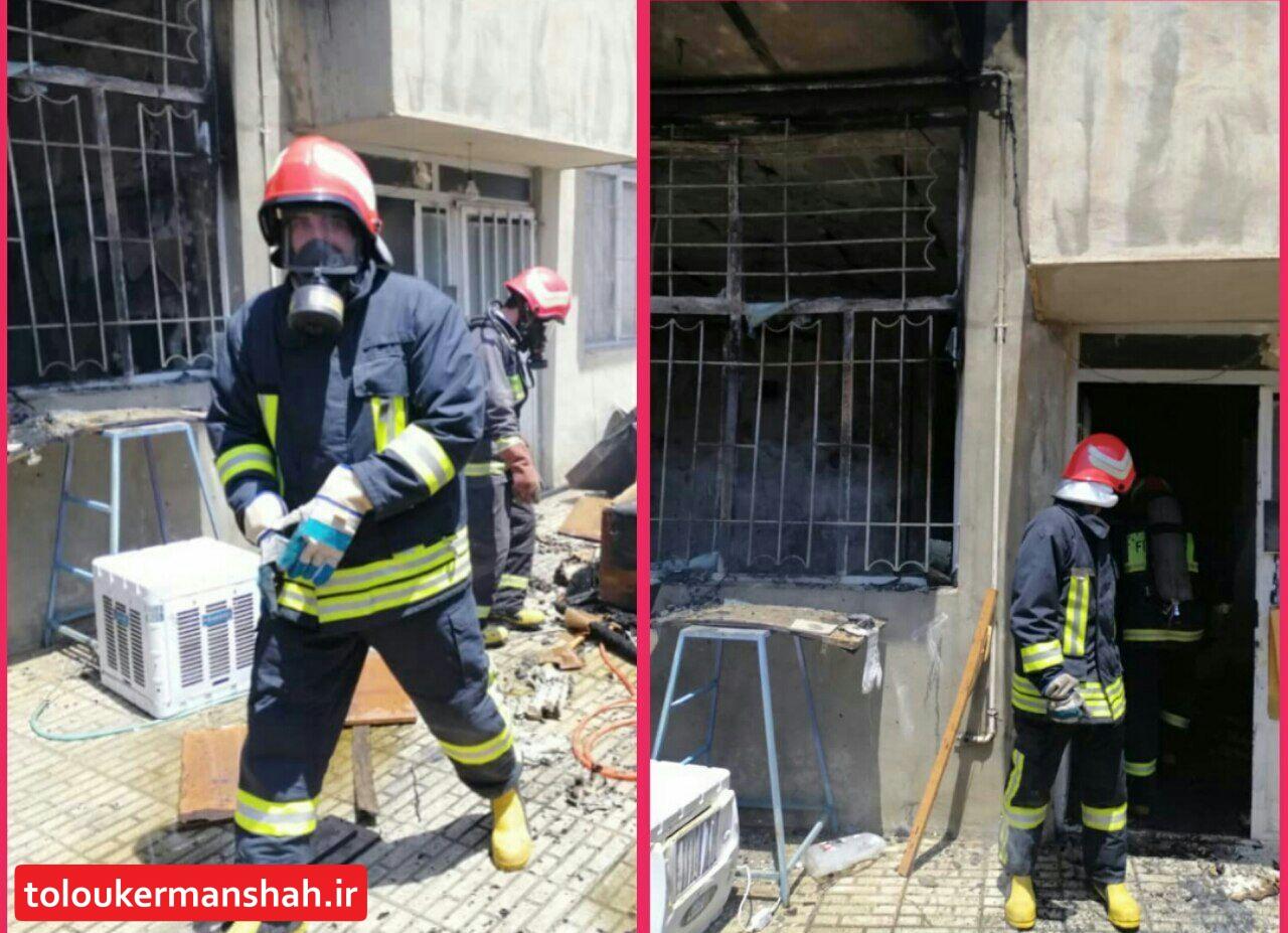 آتش سوزی منزل مسکونی در طاقبستان کرمانشاه یک مصدوم برجای گذاشت