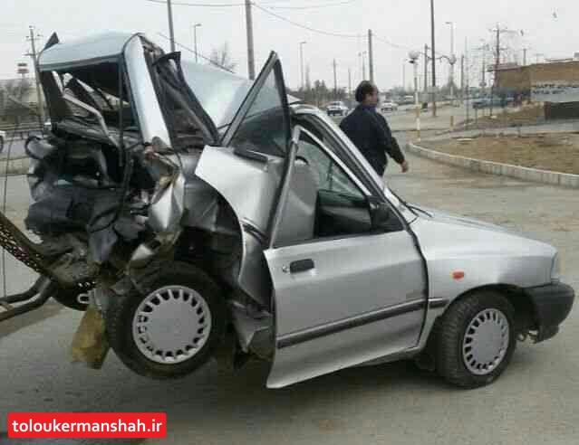 سهم ۳۷ درصدی پراید در کشته شدگان حوادث درون شهری کرمانشاه
