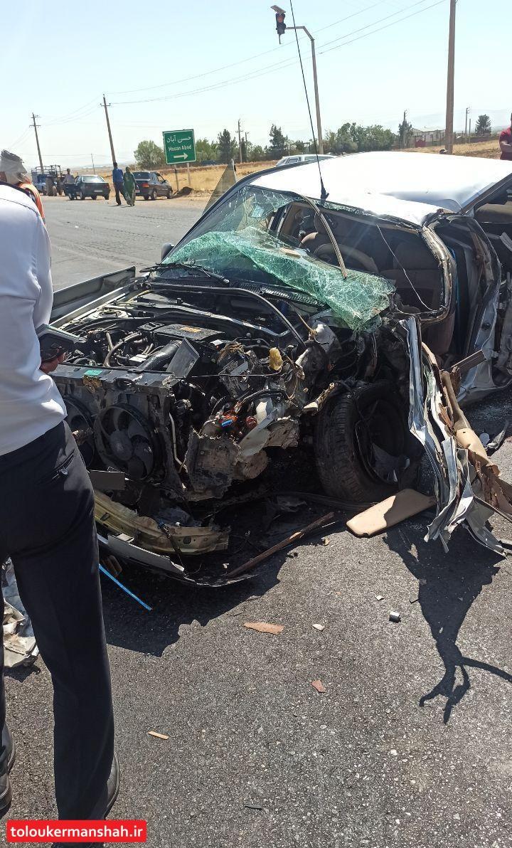 ۲ کشته و سه مجروح بر اثر سانحه رانندگی در مسیر روانسر به کرمانشاه