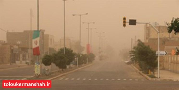 وزش باد و گرد و غبار در راه کرمانشاه/ هوا خنک میشود