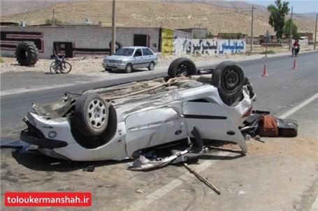 مرگ ۵ جوان کرمانشاهی بر اثر واژگونی ۲۰۶ در جاده سراب نیلوفر