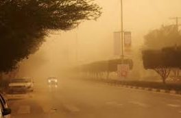 وزش باد همراه با گرد و خاک محلی در کرمانشاه