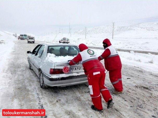 آمادهباش ۱۲۰۰ نیروی هلال احمر کرمانشاه برای بارشهای پیش رو