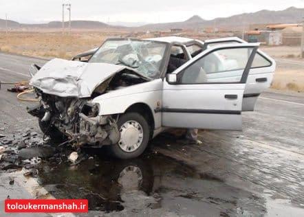 سانحه رانندگی در محور صحنه ۲ کشته و ۴ زخمی به جا گذاشت
