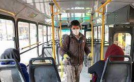 نظارت جدی بر رعایت دستورالعملهای بهداشتی در ناوگان حمل و نقل درون شهری کرمانشاه