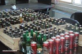 کشف ۴۴۶ بطری مشروبات الکلی خارجی در کرمانشاه