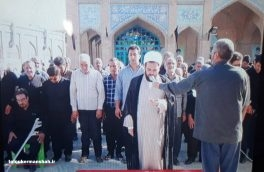 تشییع پیکر جانباز شهید در سنقر وکلیایی