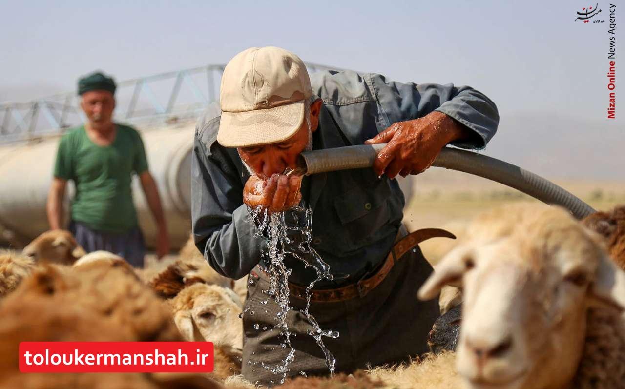 آبرسانی به عشایر استان کرمانشاه؛ دو روز در میان!/ ۱۰۰ تانکر آب هم جوابگوی نیاز عشایر نیست!