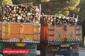 توقیف کامیون حامل چوبهای قاچاق در کرمانشاه