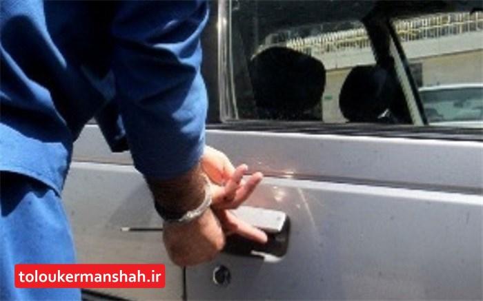 سارقان قطعات و محتویات خودرو در دام پلیس کرمانشاه