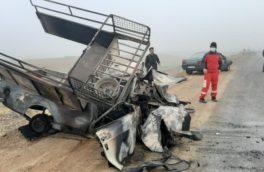 تصادف در مسیر کرمانشاه_روانسر۲ کشته و زخمی برجا گذاشت/جاده های استان مه آلود است