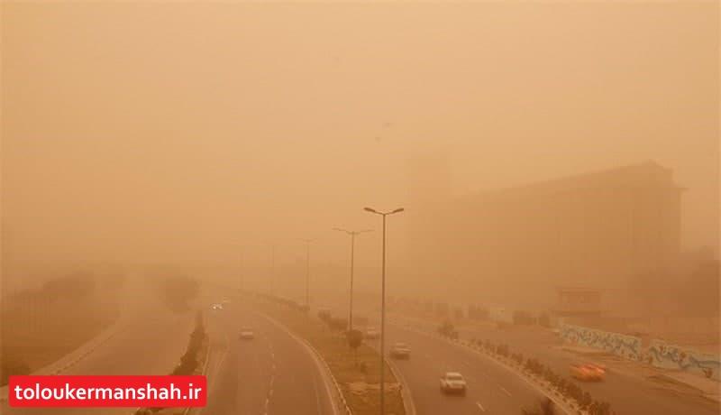 هوای کرمانشاه و کنگاور در وضعیت هشدار