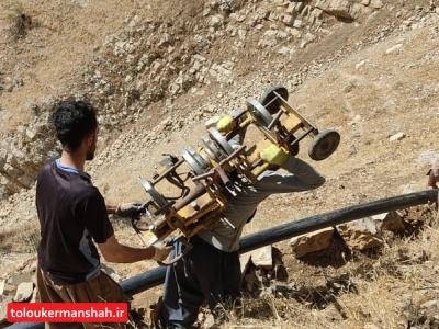 رفع مشکل آب شرب سه روستای بخش کلاشی شهرستان جوانرود