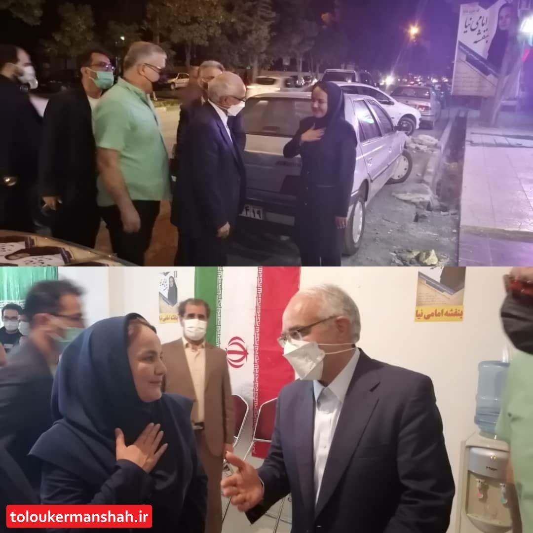 اعلام حمایت دکتر مصری نایب رییس مجلس از کاندیداتوری خانم بنفشه امامی نیا