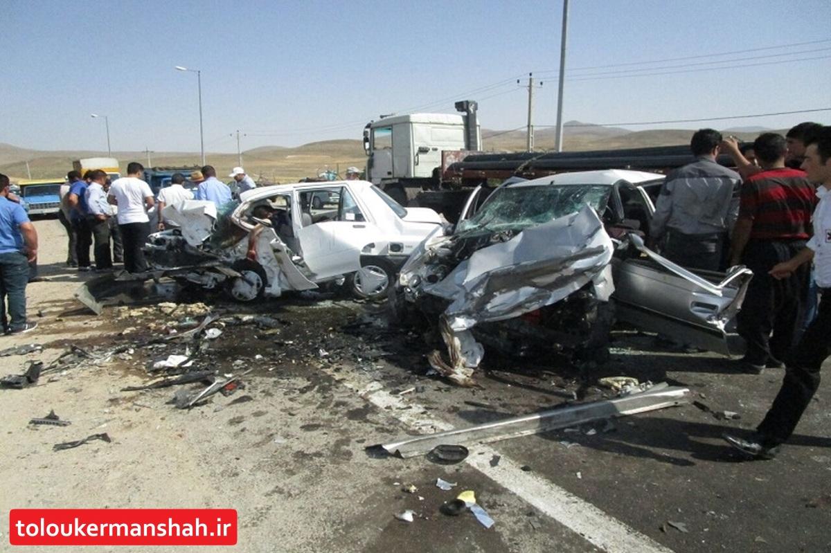 حوادث رانندگی در کرمانشاه ۳ کشته و ۶ زخمی به جا گذاشت