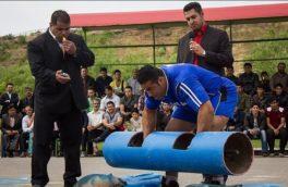 رقابت برای انتخاب قویترین مردان روستایی کرمانشاه